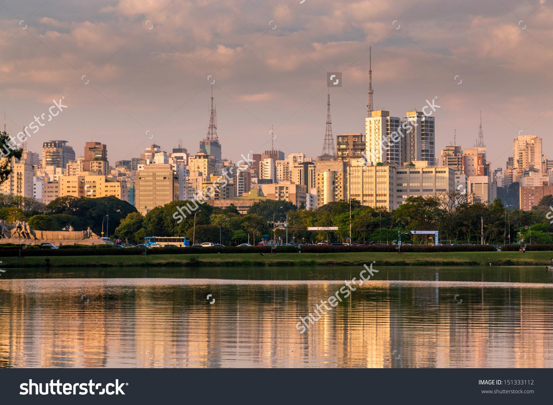 Amazing View Sao Paulo City Ibirapuera Stock Photo 151333112.