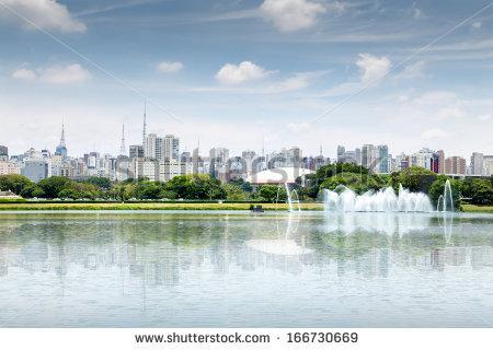Ibirapuera Park Sao Paulo Brazil Stock Photo 167820671.
