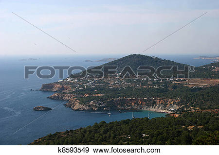 Stock Photograph of Panoramic View, Ibiza Island k8593549.