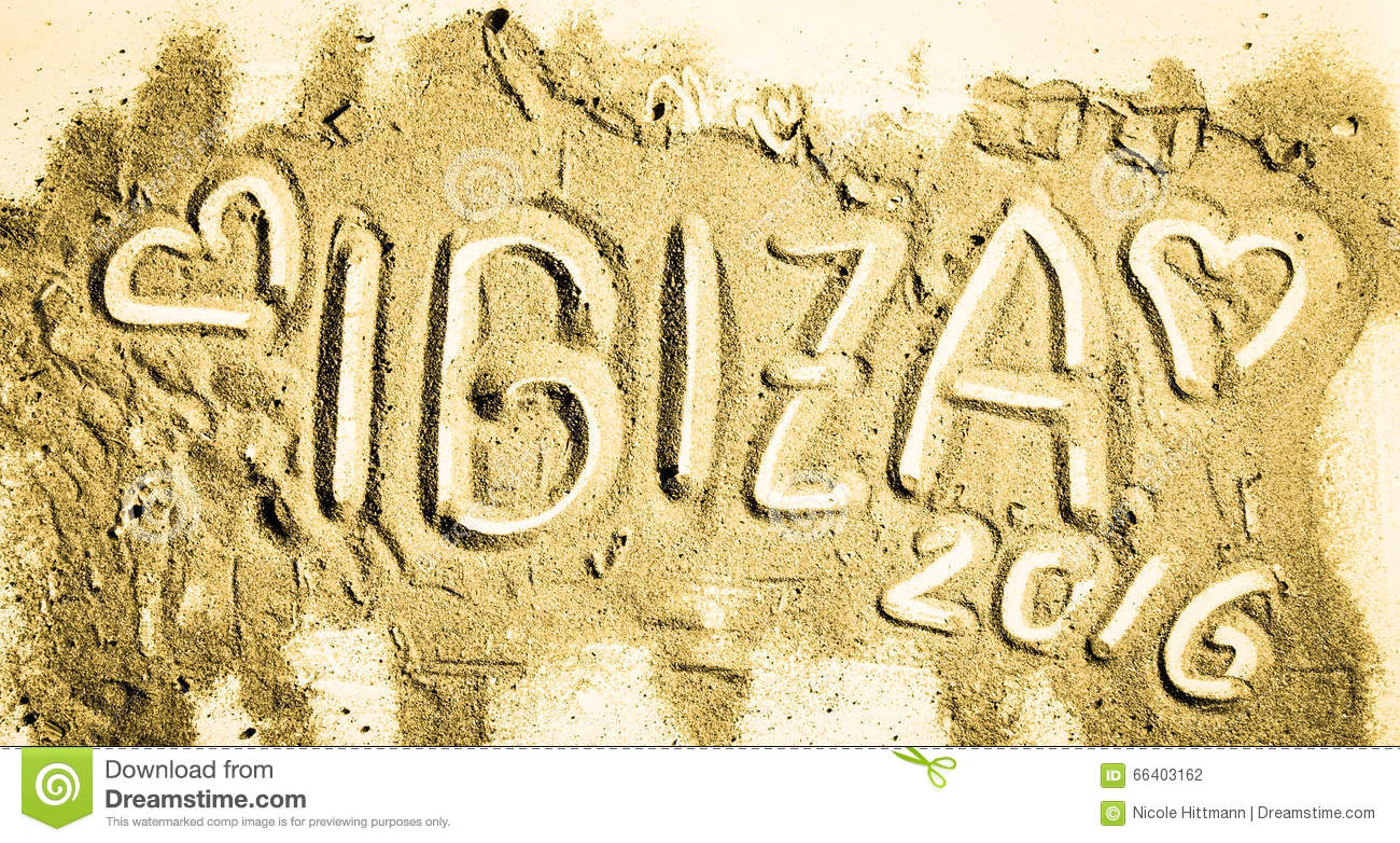 Ibiza 2016 Season Stock Photo.