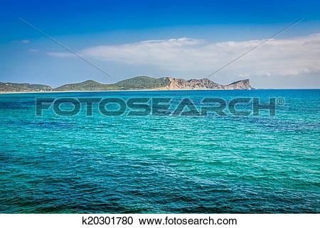 Stock Photography of Ibiza island,beach Ses Salines in Sant Josep.