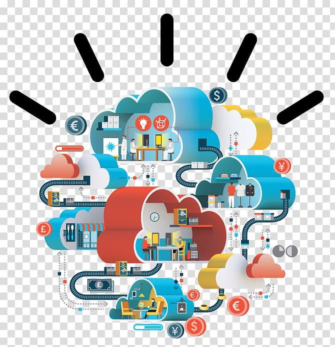 IBM cloud computing SoftLayer Illustration, cloud computing.