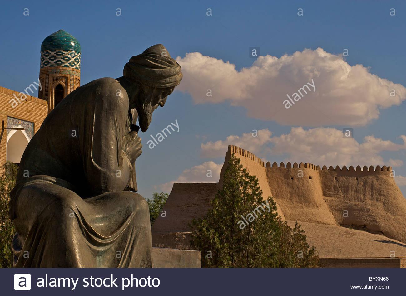 Statue Of Al Khorezmi, Khiva, Old Khiva, Uzbekistan. Muhammad Ibn.