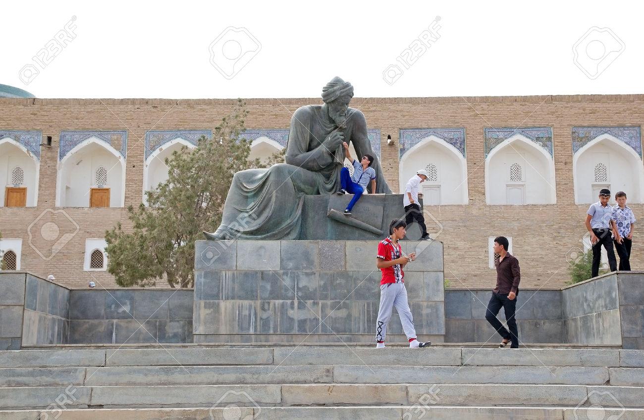 Uzbeck Tourists At The Monument Of Muhammad Ibn Musa Al.