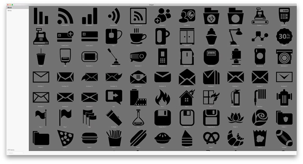Clipart Collection for iWork, iWeb, iBooks Author and other.