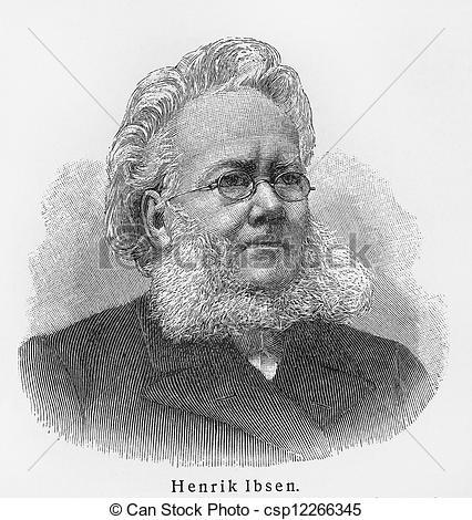 Stock Photo of Henrik Ibsen.