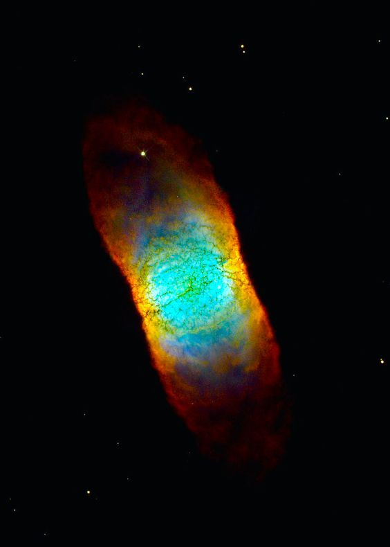 Planetary nebula IC 4406 in the constellation Lupus Image credit.