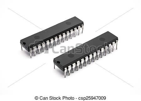 Stock Photography of DIP IC [Dual Inline Package Integrated.