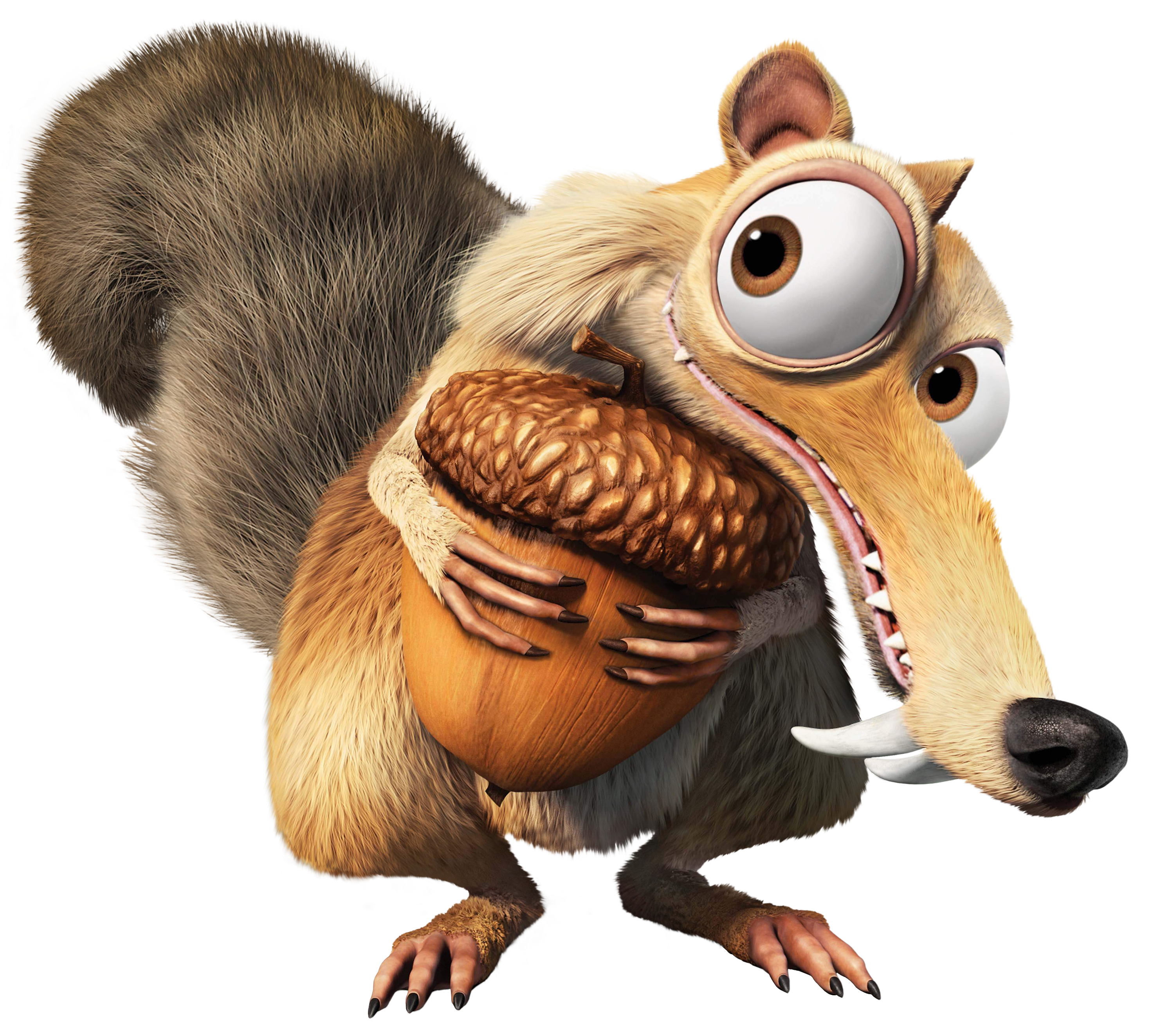 Ice Age Squirrel Scrat Transparent PNG Clip Art Image.
