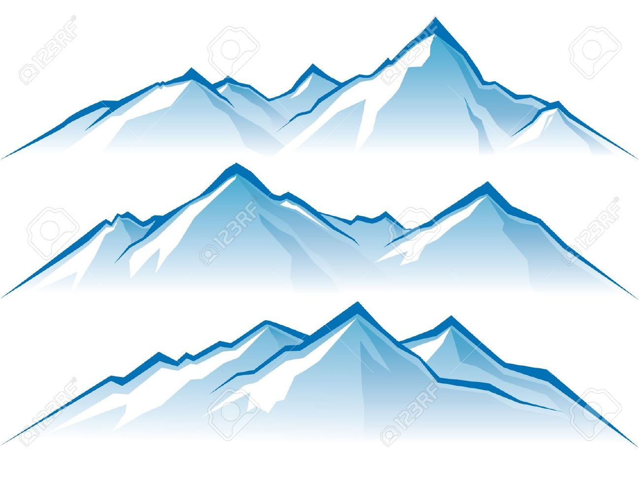 Snow mountain clipart.