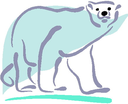 Polar bear on ice clipart clipart kid.