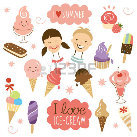 2,393 Ice Cream Berries Cliparts, Stock Vector And Royalty Free.