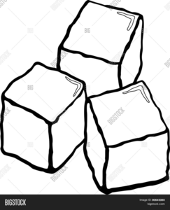 Ice Cube Clipart Black And White.