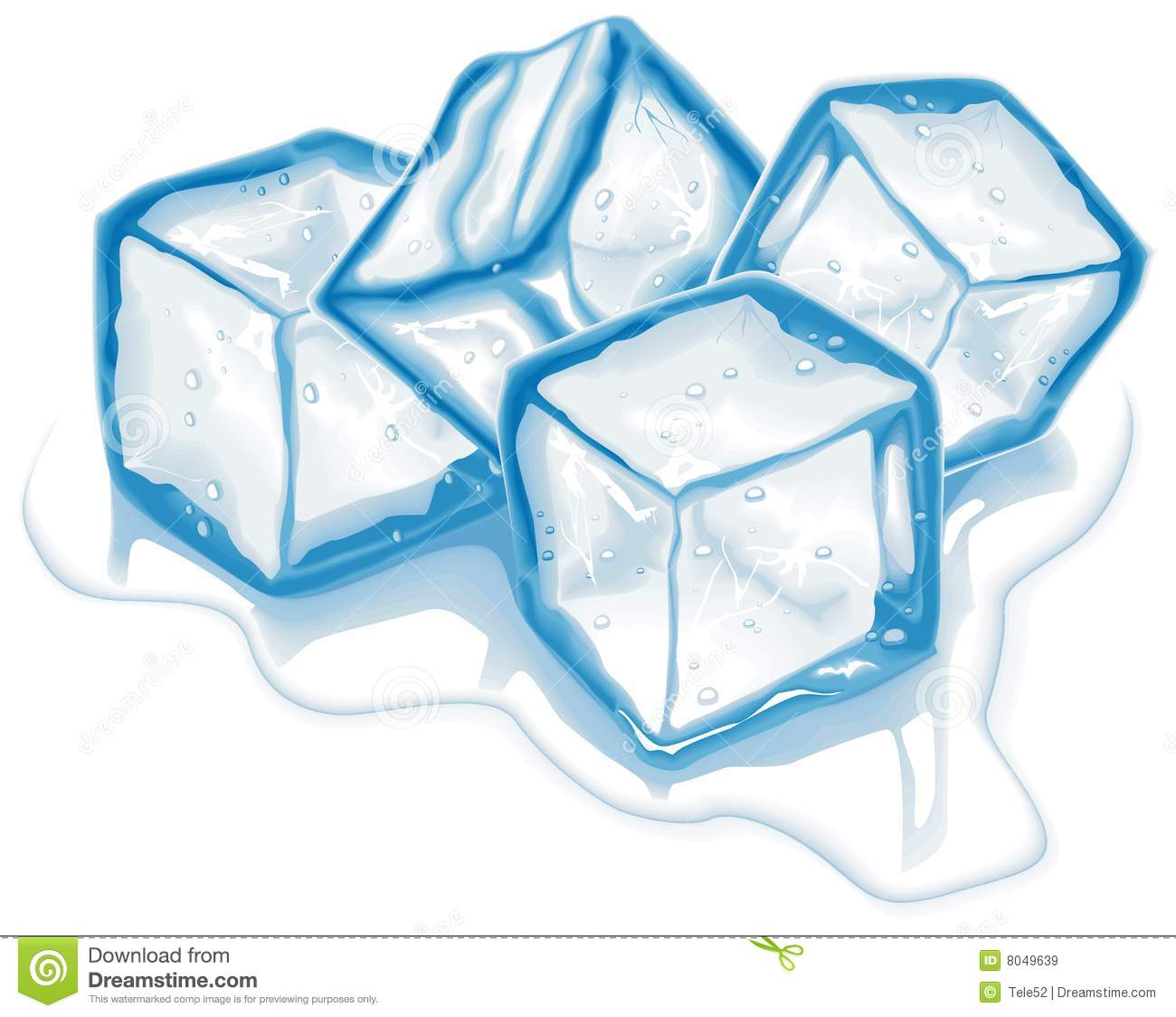 Ice Cube Clipart.
