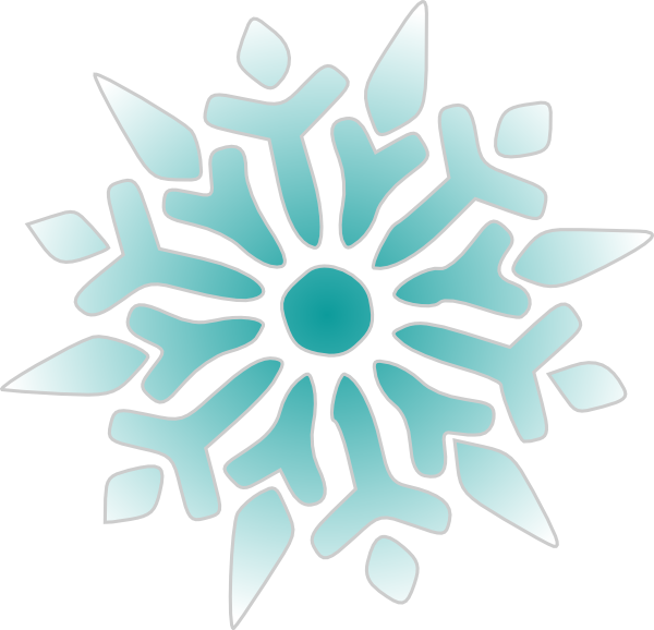 Snowflake Ice Blue Clip Art at Clker.com.