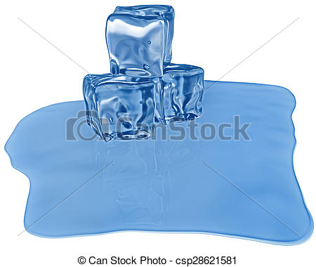 Stock Illustration of ice cubes with air bubbles.