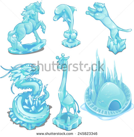 Ice sculpture clipart.