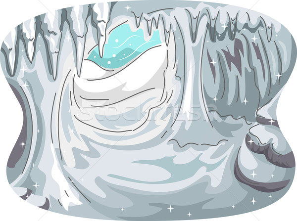 Ice Cave vector illustration © lenm (#6813757).