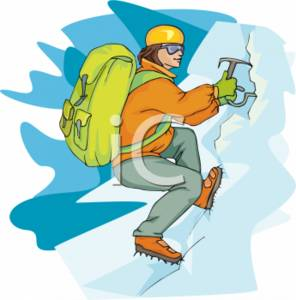 Clipart Picture of an Ice Climber.