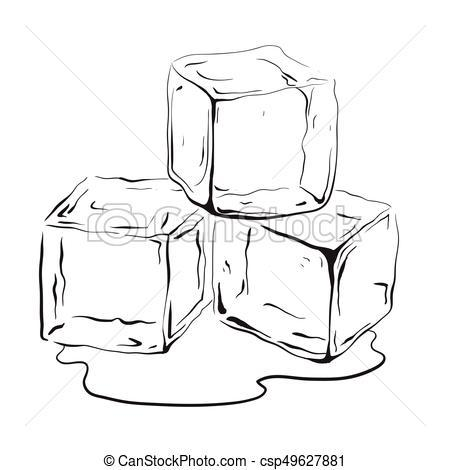 Ice cubes clipart black and white 2 » Clipart Portal.