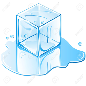 Ice Cube Melting Clipart.