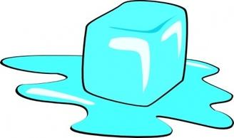 Melting Ice Cube Clip Art.