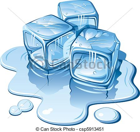 Vector Clip Art of Ice cubes.