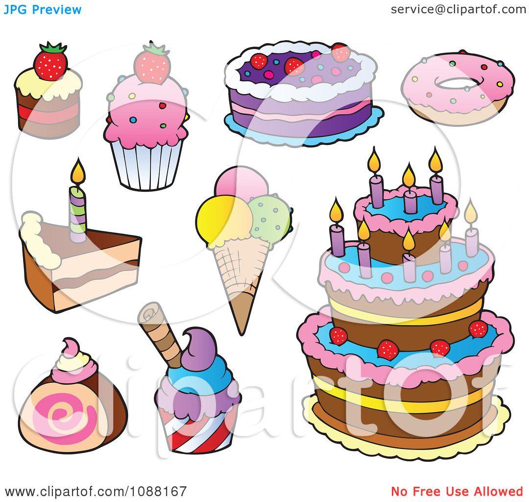 Clipart Cakes Ice Cream And Desserts.
