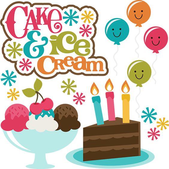 Cake and Ice Cream SVG scrapbook collection birthday cake svg cut.