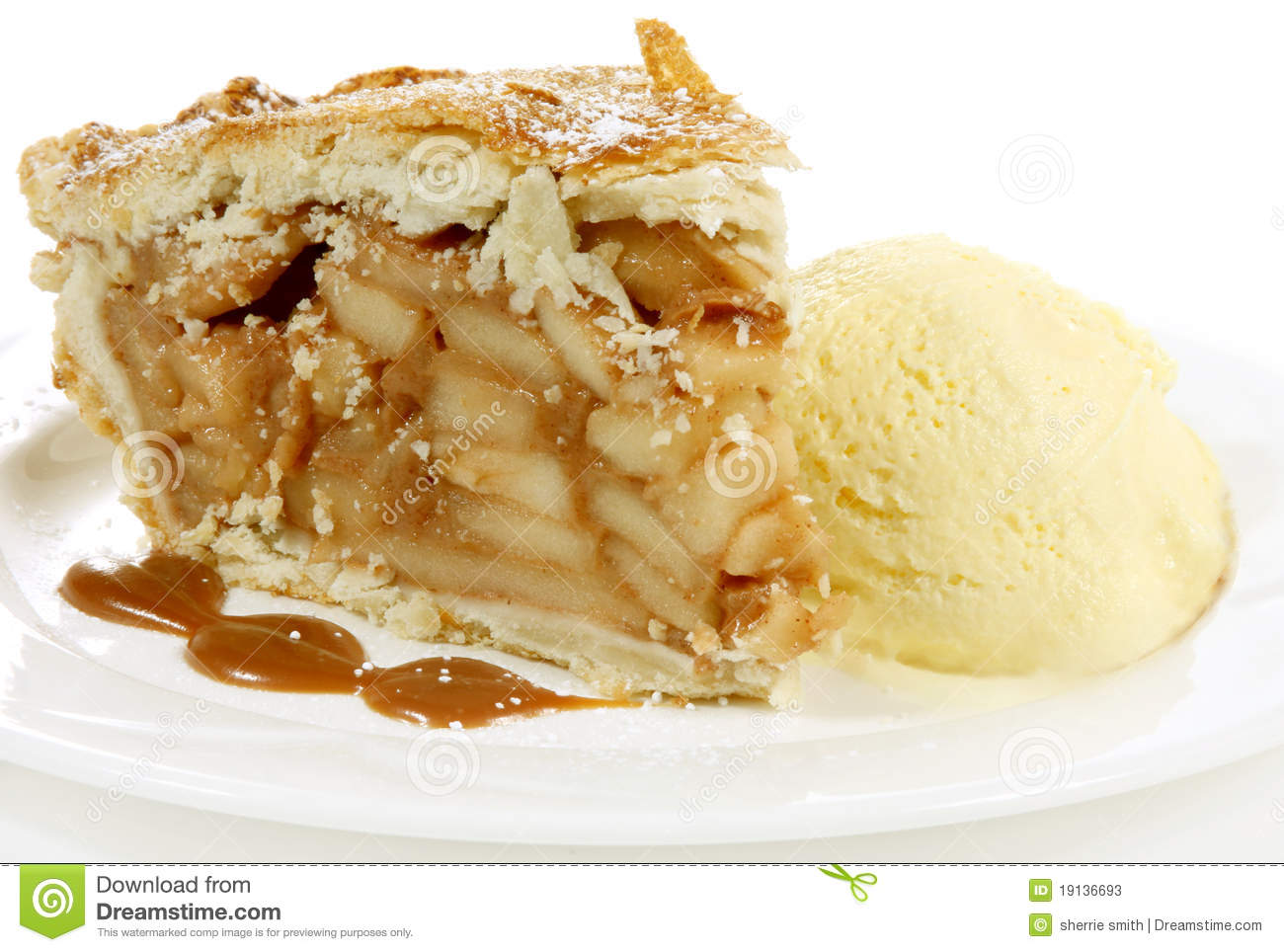 Apple Pie With Ice Cream Clipart.