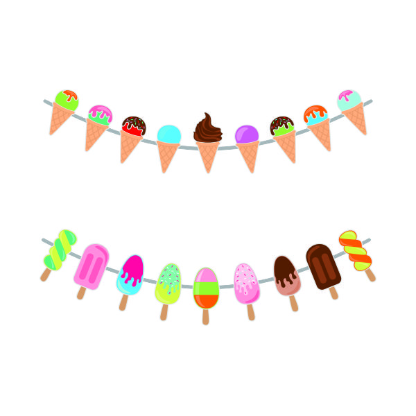 Ice Cream Banner Cuttable Design.