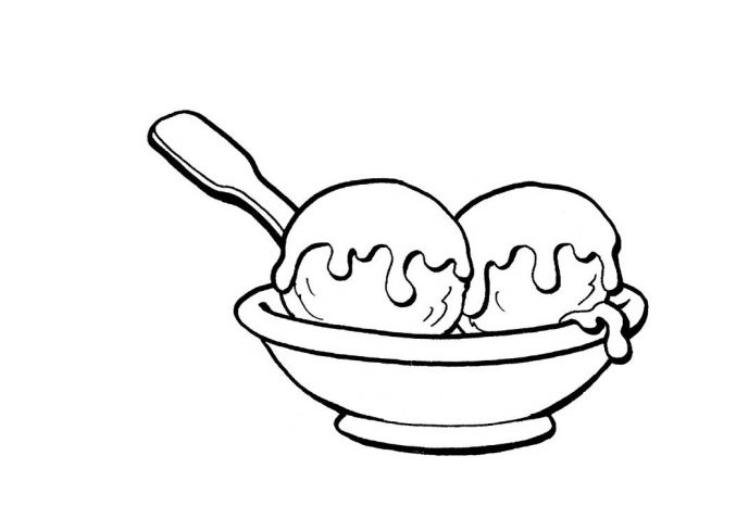 ice cream clipart black and white.