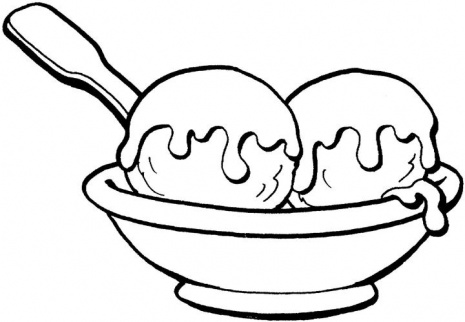 Ice cream black and white ice cream sundae clipart.