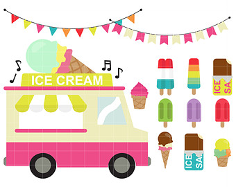 Ice Cream Cart Clipart.