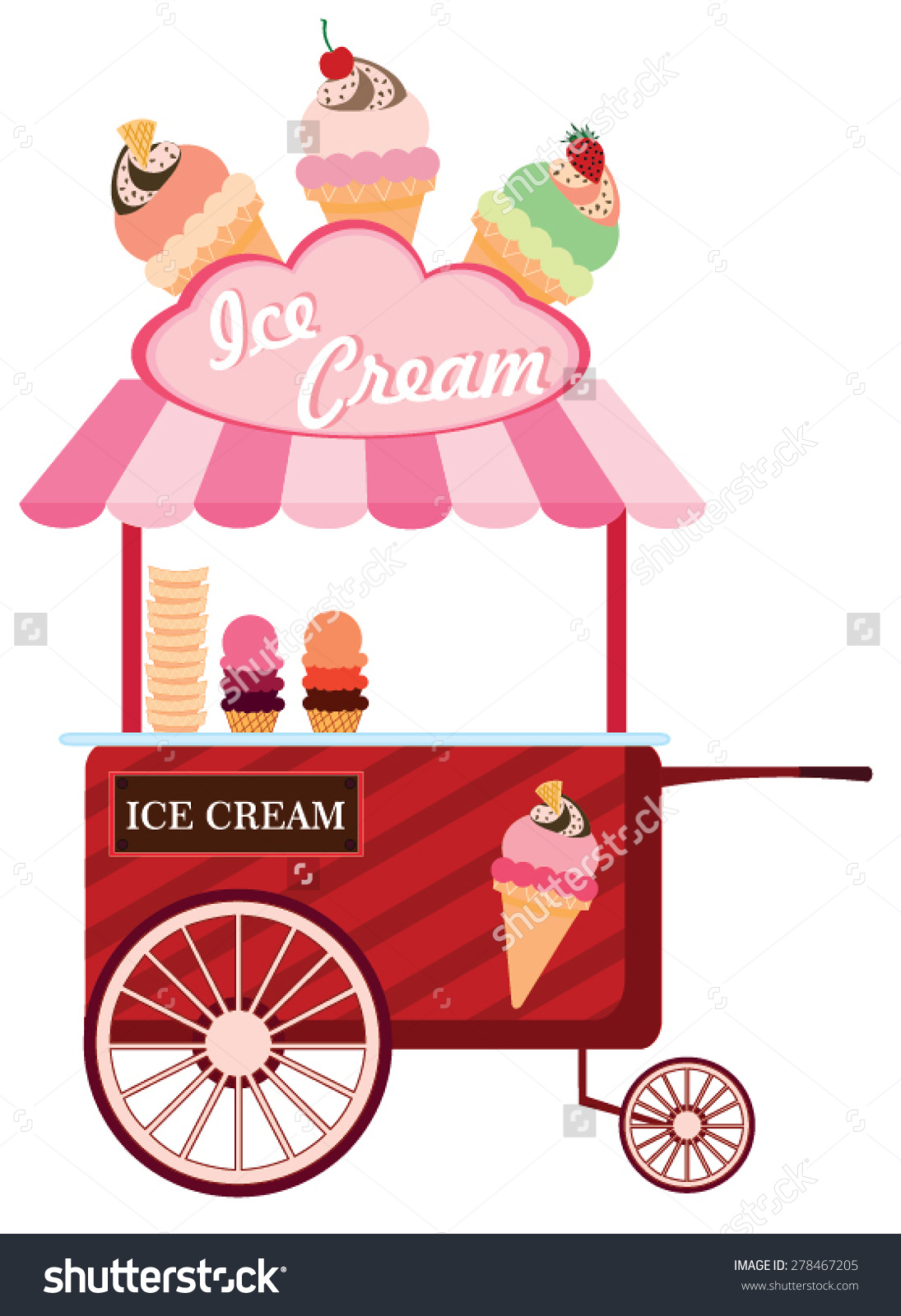 Ice cream cart clipart - Clipground