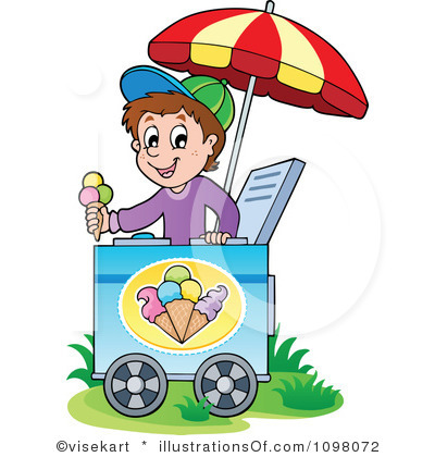 Ice Cream Cart Clip Art.