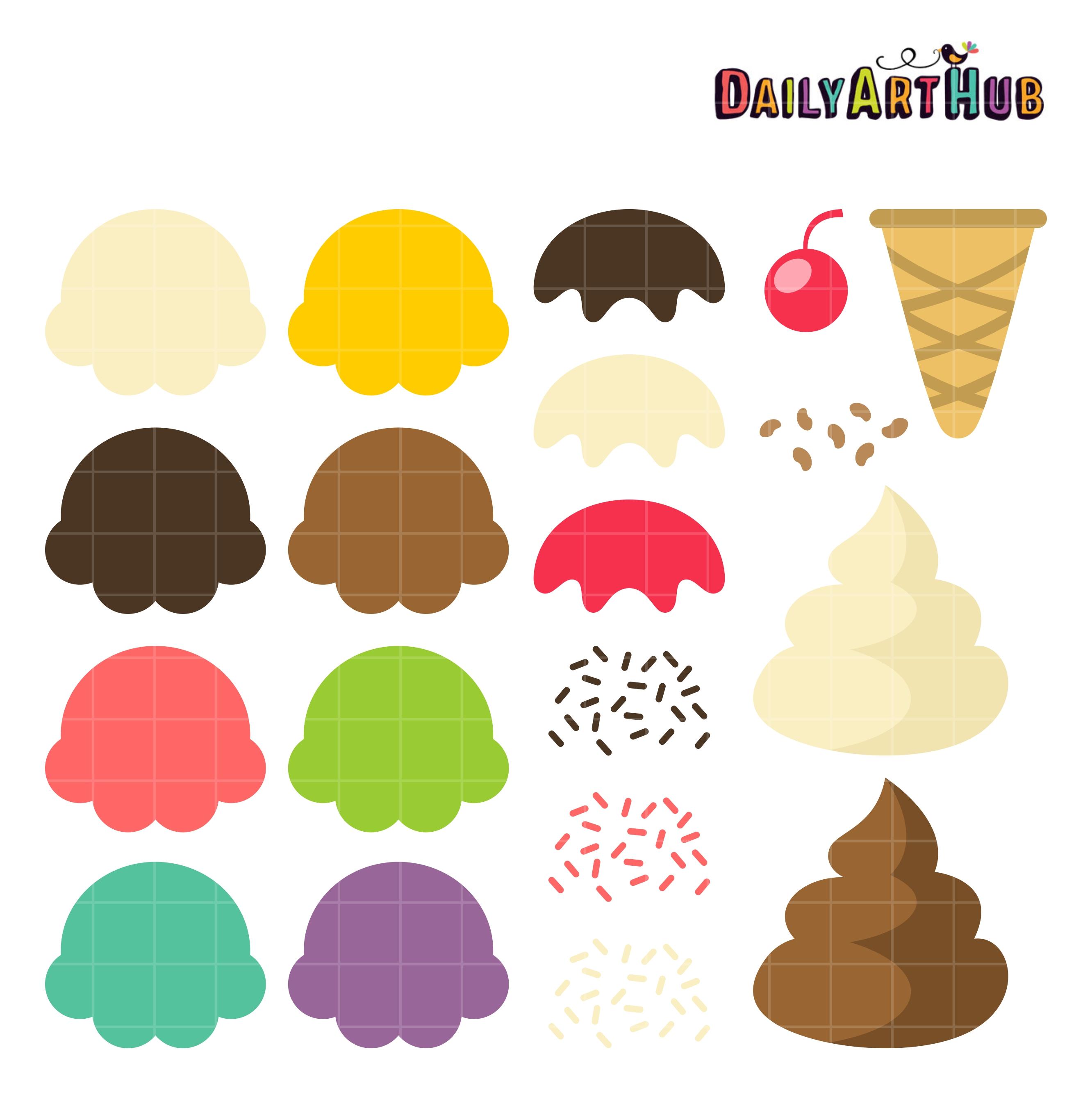 Your Ice Cream Cone Clip Art Set.