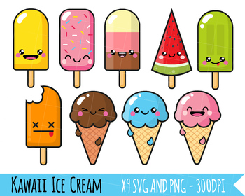 Ice Cream Clipart, Cute ice.