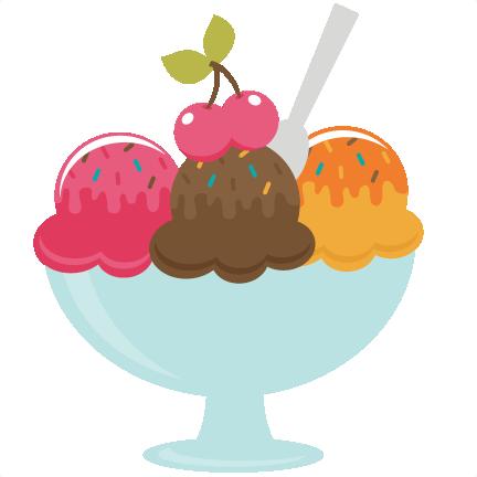 Ice Cream Social Clip Art.
