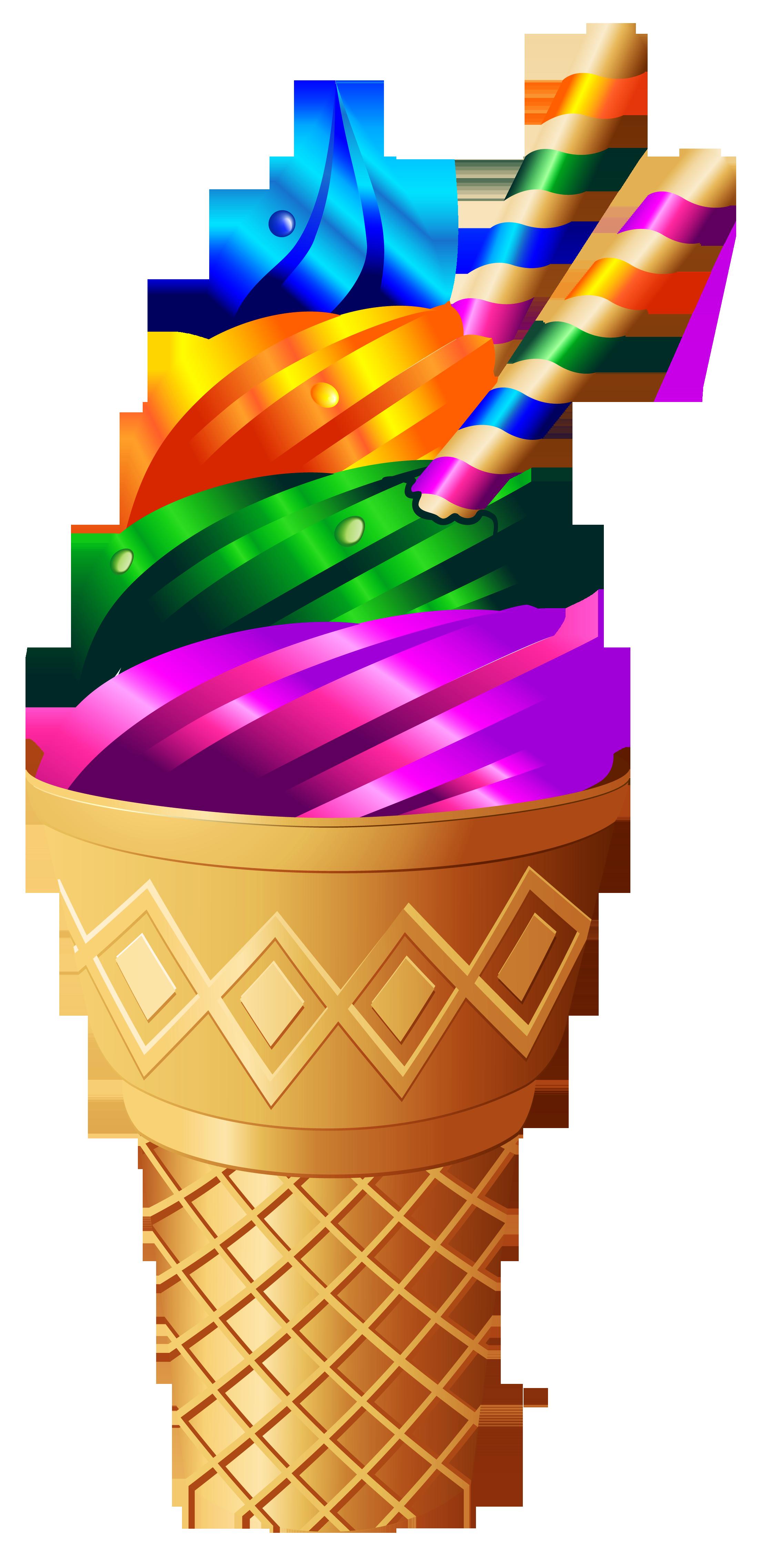 Ice Cream Sundae Transparent Clip Art.