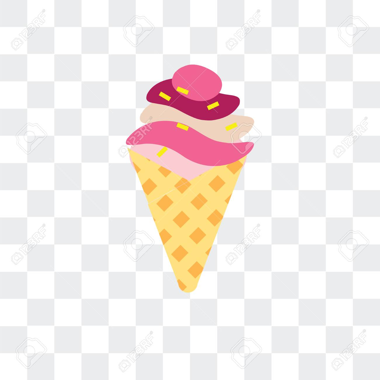 Ice cream vector icon isolated on transparent background, Ice...