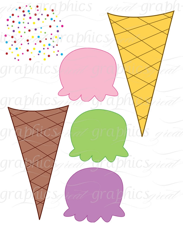 Ice Cream Cone Clipart.