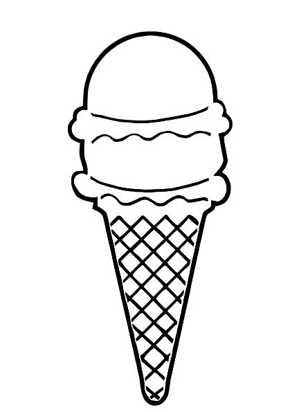 Ice Cream Cone Outline clip art.