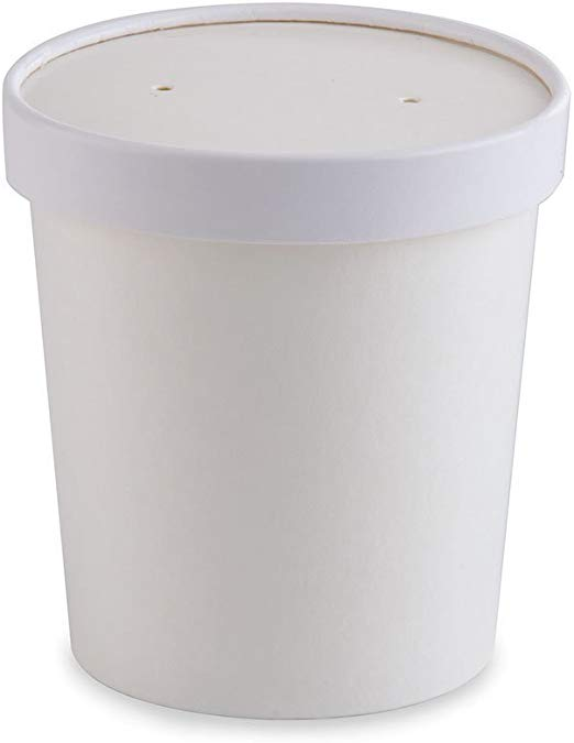 White Pint Paper Ice Cream Container 16 oz (250).