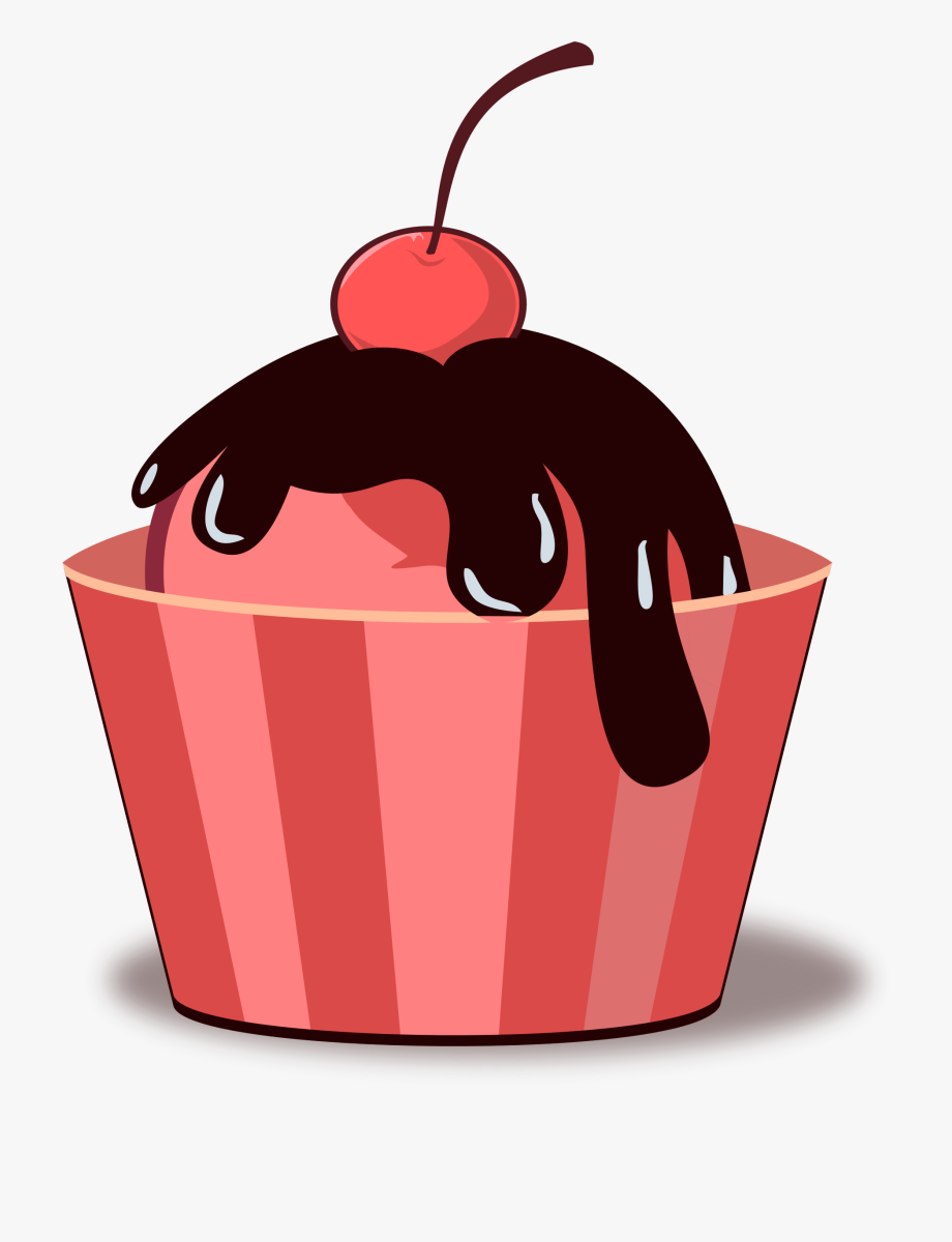 Melting Chocolate Ice Cream Clipart.