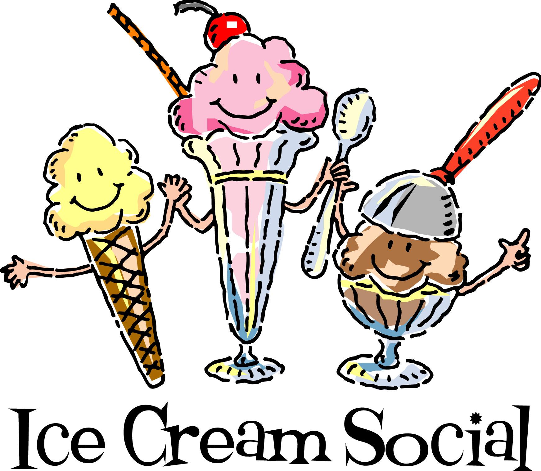 Ice Cream Social Clipart.