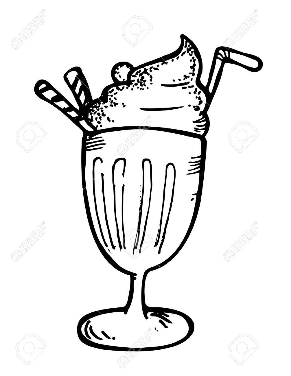 ice cream with float doodle.