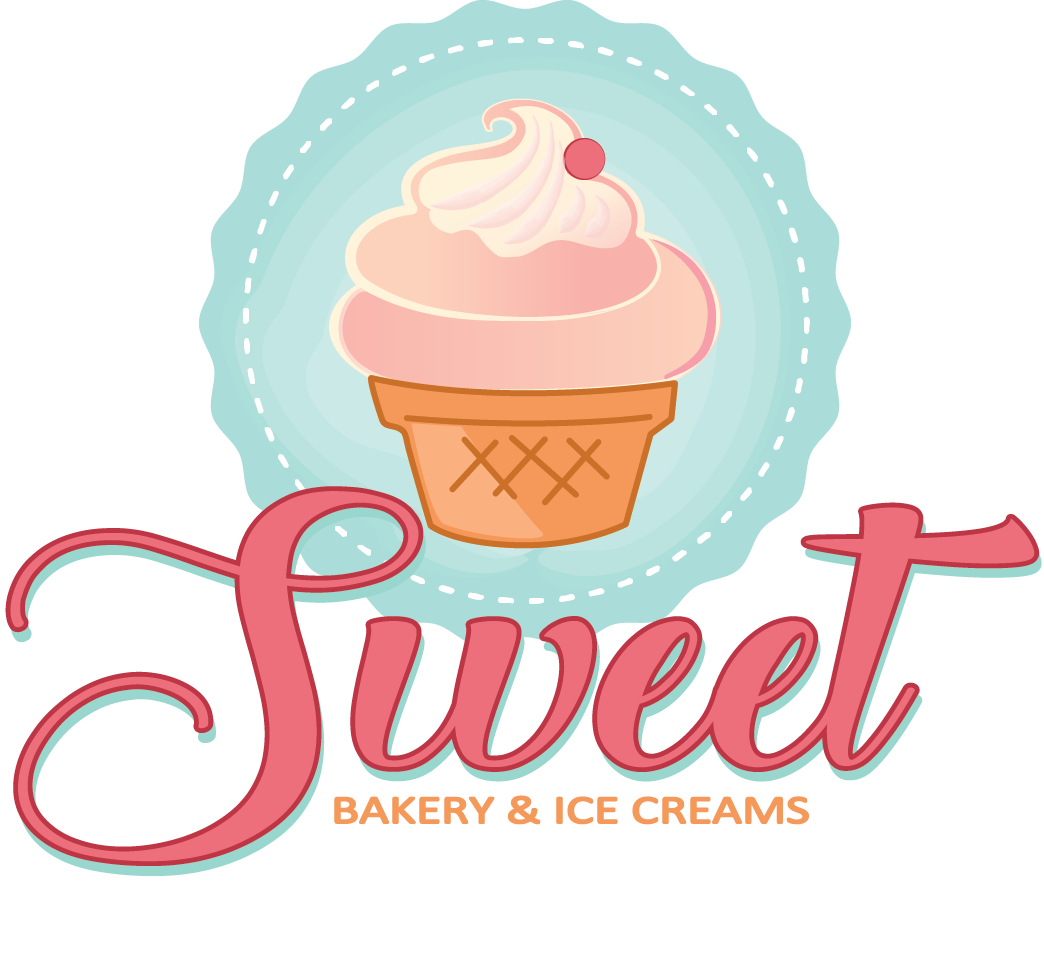 Bakery And Ice Cream Shop Logo Design.