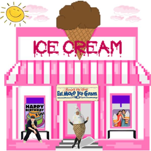 Ice cream parlour clipart.