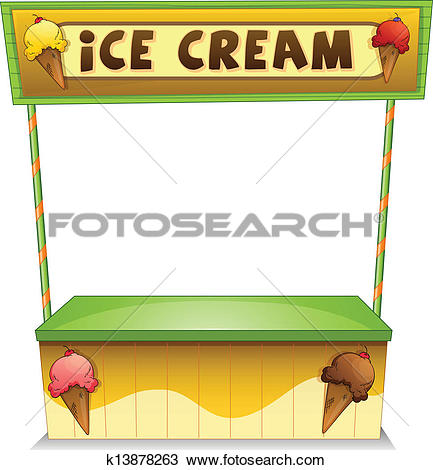 Stock Illustration of Ice Cream Stall k4757195.